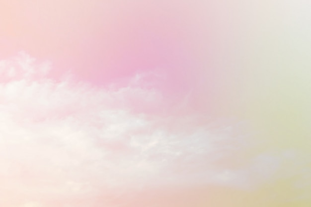 Soft cloudy is gradient pastel, abstract sky background in sweet color.