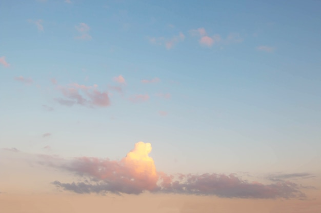 Soft cloudy is gradient pastel, sky background