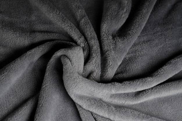 부드러운 패브릭 배경 회색 담요 질감 웨이브 소재 패턴