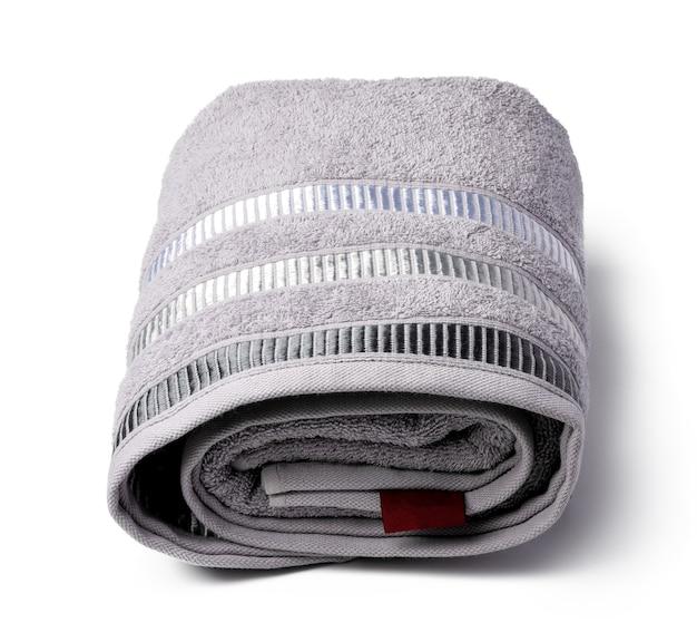 Soft folded towel isolated on white background