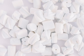 Soft marshmallows on table