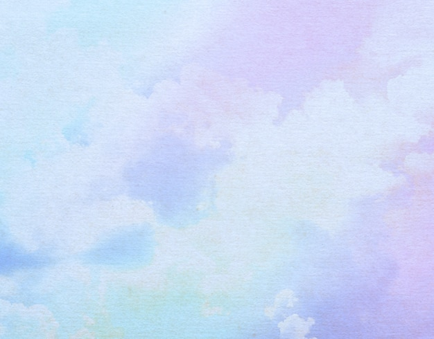 Soft sky and cloud with pastel color filter and grunge texture background
