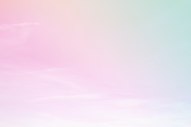 A soft sky with a pastel color background