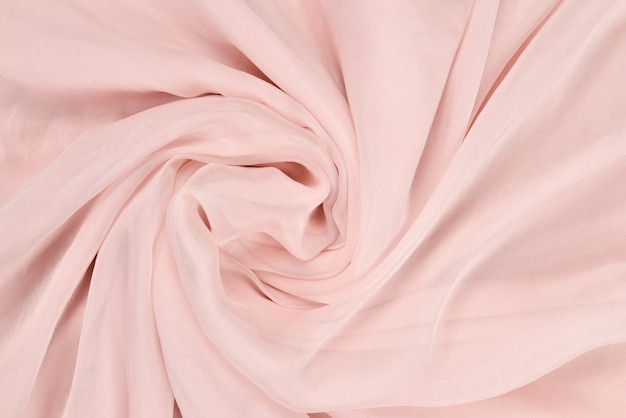 Soft smooth pink silk fabric