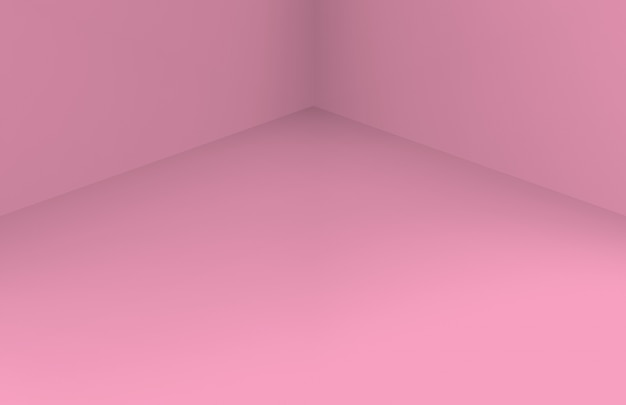 Soft sweet pink corner room wall floor.