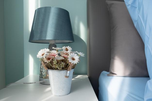 Soft tone beautiful flower in the jar