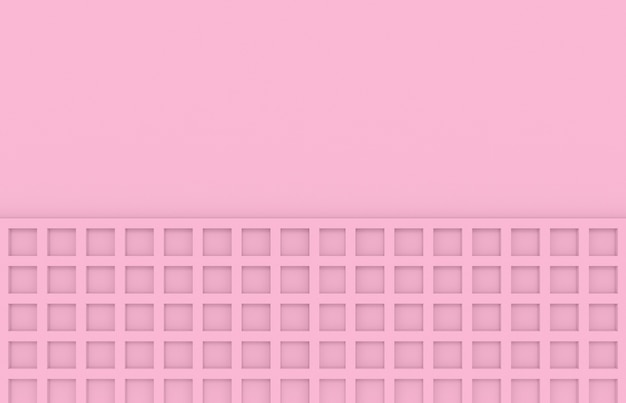 Soft tone color pink square pattern wall background.