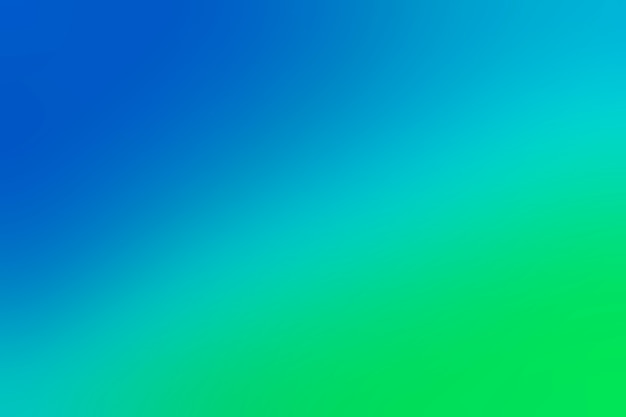 파란색에서 녹색으로 부드러운 전환