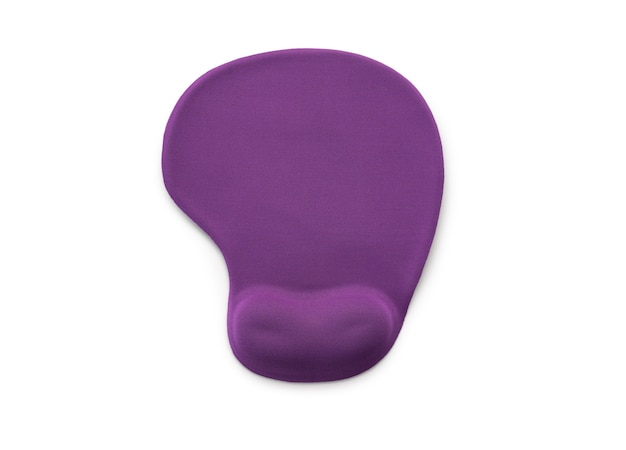 Soft violet mouse pad on white background