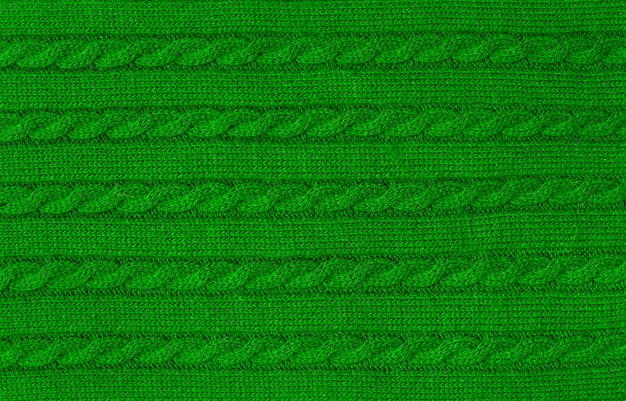 Soft and warm fabric green