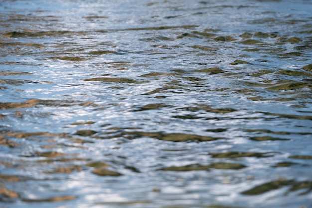 Soft wave on water at river
