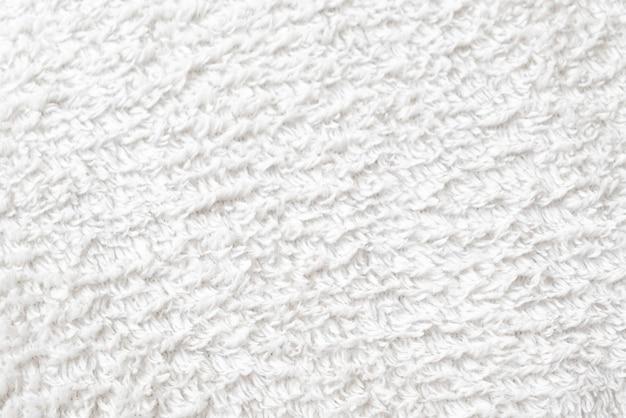 Текстура мягкого белого хлопкового полотенца