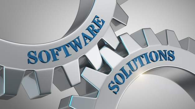 Software solutions background