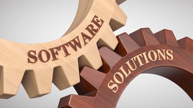 Software solutions written on gear wheel