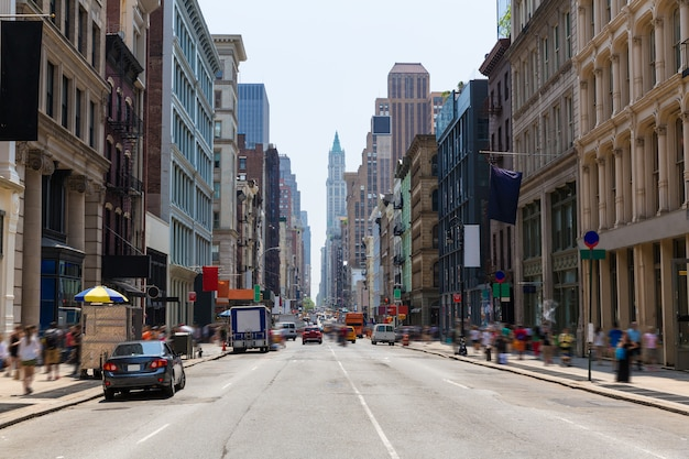 Soho building facades in manhattan new york city