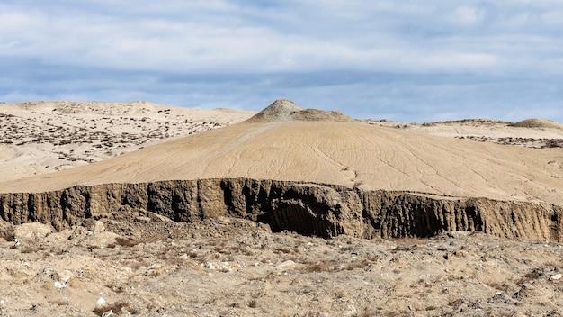 山腹の土崩壊