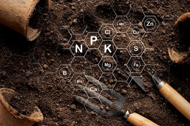 토양 질감 배경, 비옥 한 양토 토양 심기에 적합합니다.