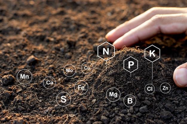 Soil texture background, fertile loam soil suitable for planting.