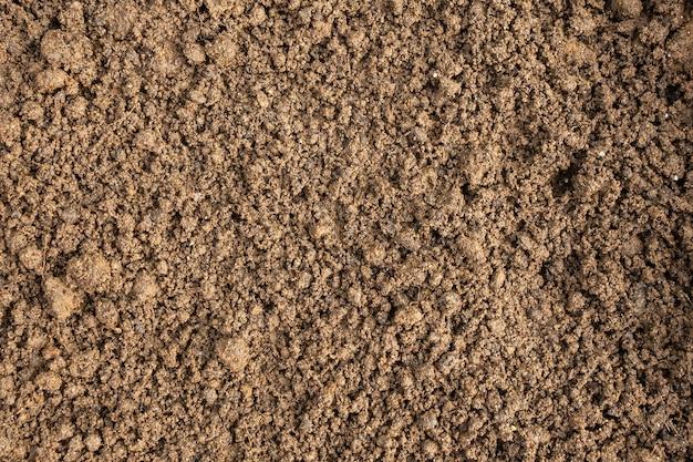 Вид сверху текстуры почвы