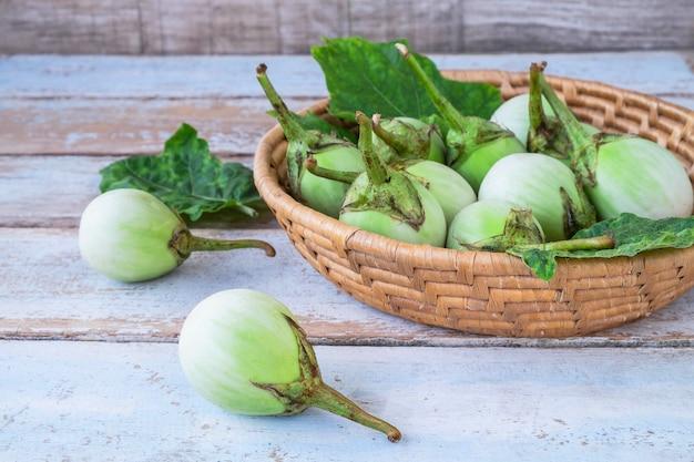 Solanum laciniatum in the basket