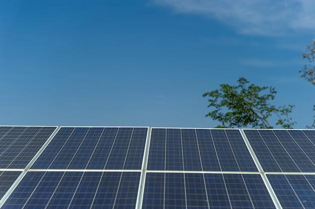 Solar cells convert solar energy from the sun into energy.