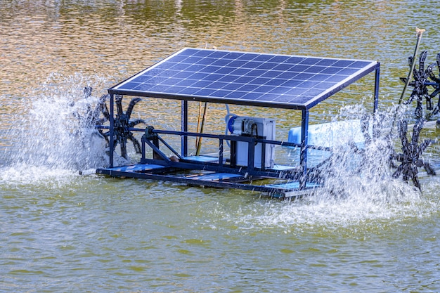 Solar cells in a small resort located in the middle  of the mountains, it is working and useful.