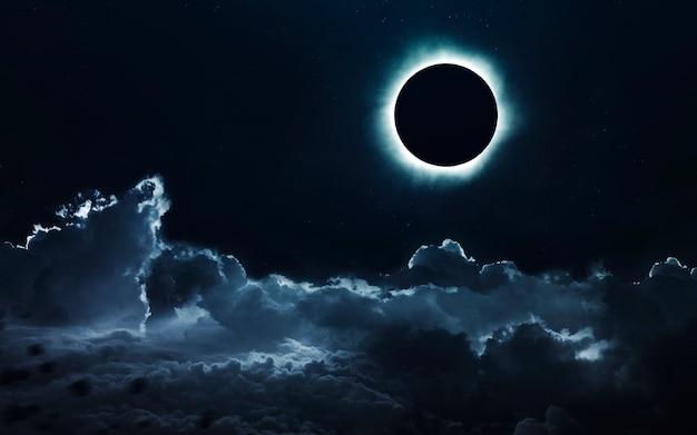 Solar eclipse in dark