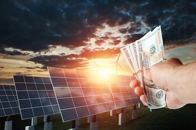 태양 에너지 사업, 녹색 전기 비용. 새로운 기술, 미래의 에너지.