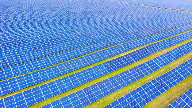 The solar farm an aerial photo