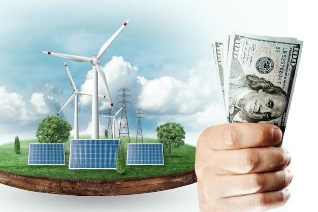 태양광 패널 비용, 태양광 사업. 친환경 전기의 비용, 미래의 에너지.