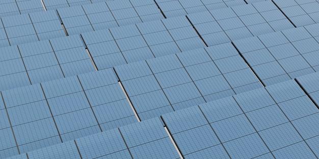 Солнечная панель, электрическая аккумуляторная панель, макет солнечной энергии, 3d иллюстрация