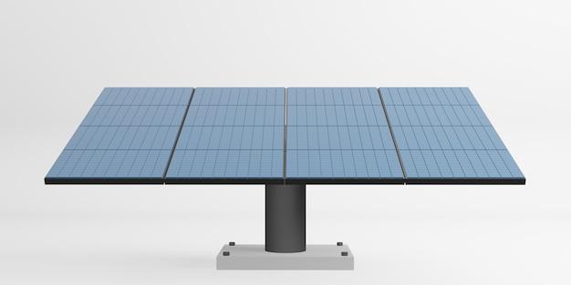 태양 전지 패널 전기 저장 패널 모형 태양 광 발전 3d 그림