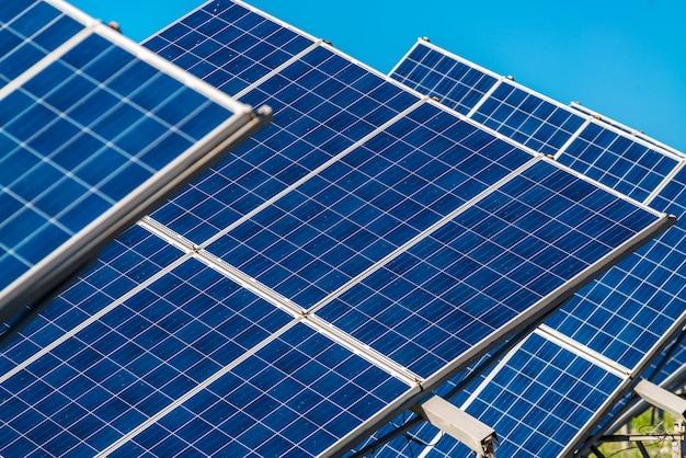 Solar panel energy from the sun