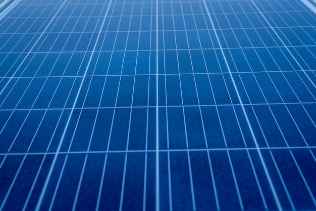 Solar panel install on roof-deck in big building for generation of electric power