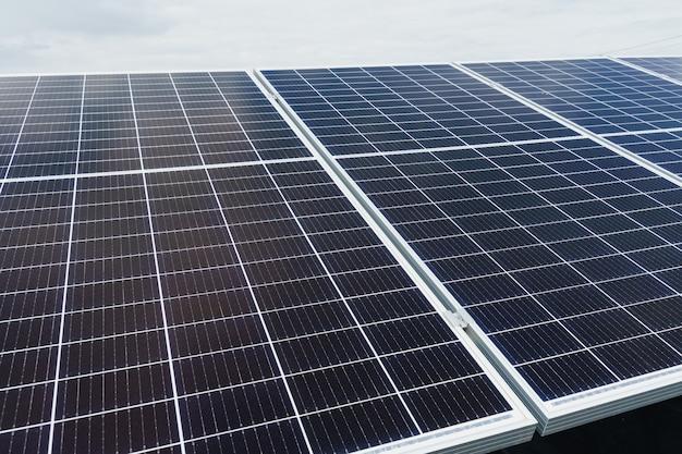 Солнечные панели крупным планом