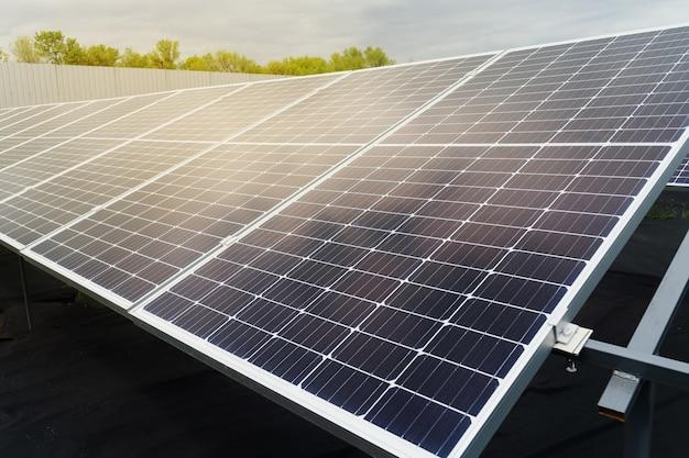 Solar panels on the ground