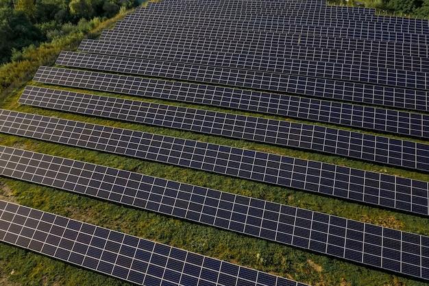 조감도에서 태양 전지 패널입니다.
