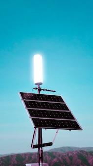 캘리포니아 사막의 태양 전지 패널 모바일 벽지