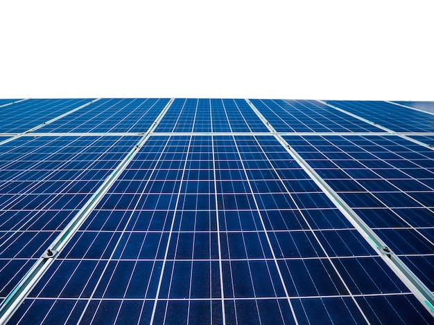 Панели солнечных батарей, изолированные на белом фоне