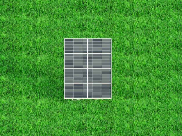 Солнечные панели на фоне неба солнечная электростанция голубые солнечные панели 3d визуализации