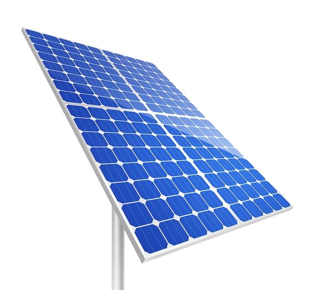 Панели солнечных батарей на белом фоне