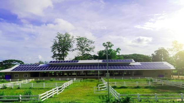 대체 발전 시스템을 위한 농장 옥상의 태양광 패널 기술