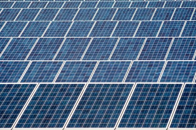 Solar pannels field background