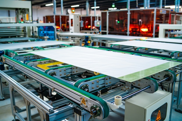 Solar power panel plant. solar batteries production.