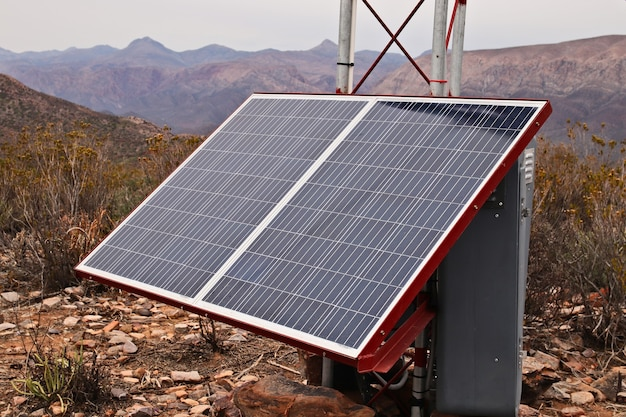 Un pannello solare.