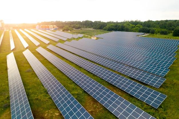 Solar power plant top view.