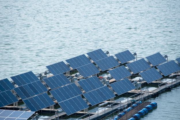 Solar power station float on water