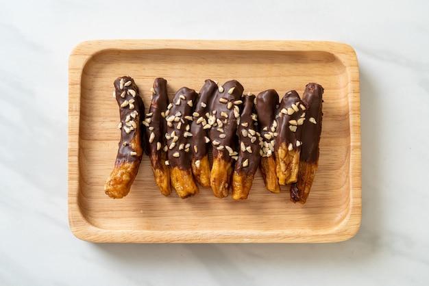 太陽熱乾燥バナナチョコレートコーティングまたはバナナディップチョコレート