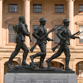 Soldier statues at province house, charlottetown, prince edward island, canada