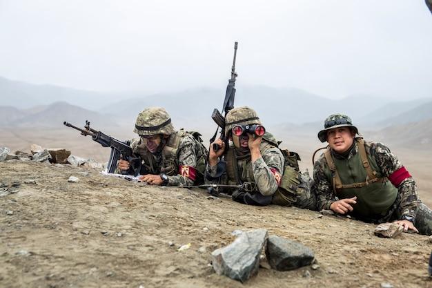 地上キャンペーンの兵士